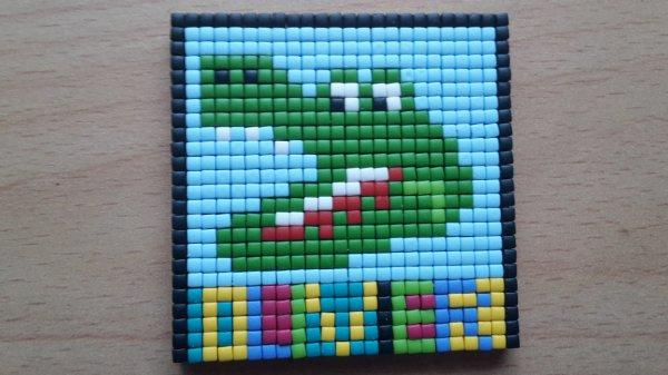 Kdo pour noël pour un ami (pixels mosaïques) le croco