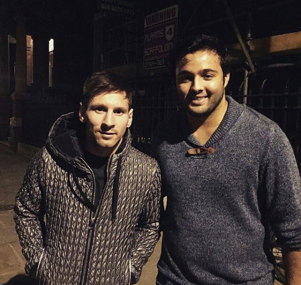 Leo Messi et des fans