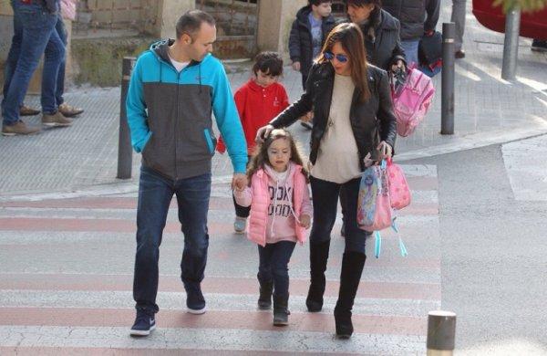 Andrs Iniesta avec sa femme Anna & sa fille Valéria (attendent leur 2ème enfants)