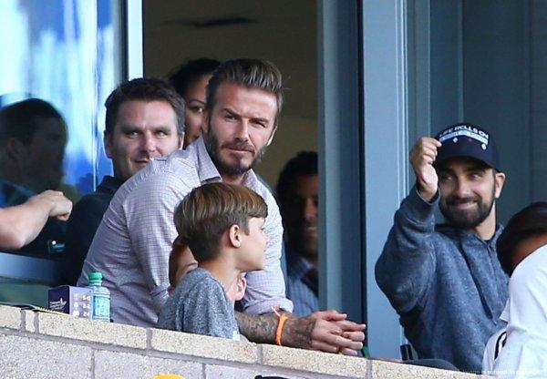 David Beckham & ses fils Romeo & Cruz