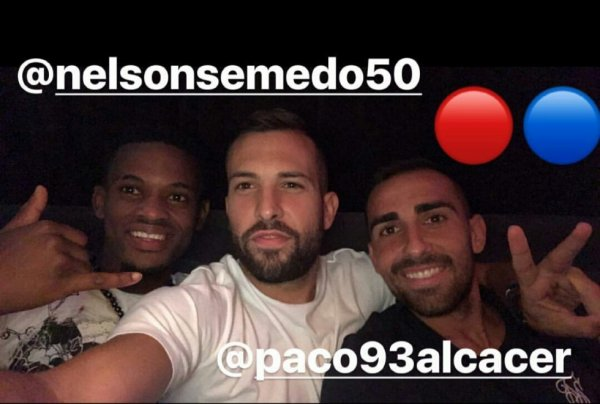 jordi Alba avec Nelson Semedo & Paco Alcacer