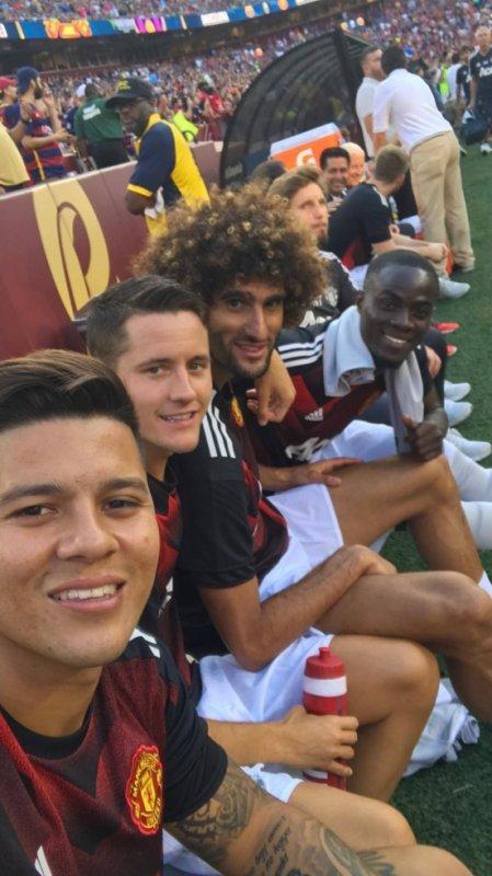 Marcos Rojo avec Herrera, Fellaini & Bailly
