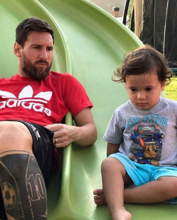 Lionel Messi & Mateo