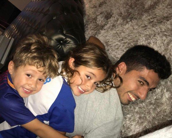 Luis Suarez & ses enfants