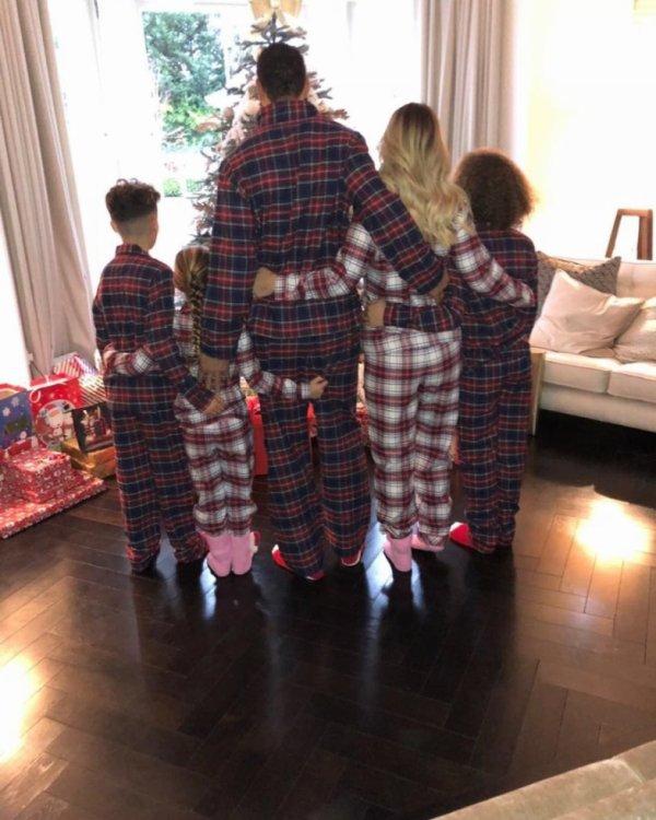 Rio Ferdinand & Kate Wright avec ses enfants