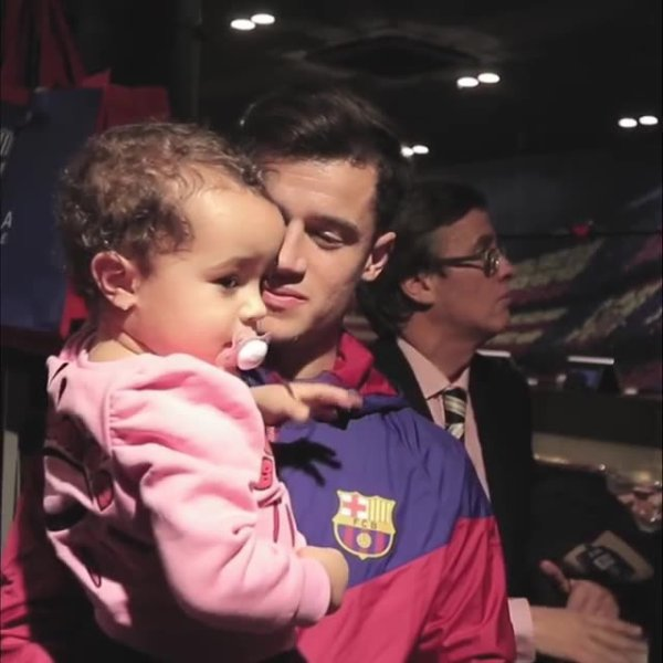 Philipe Coutinho & sa fille