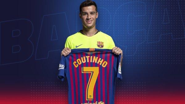 Philipe Coutinho récupère le numéro 7 du Fc Barcelone