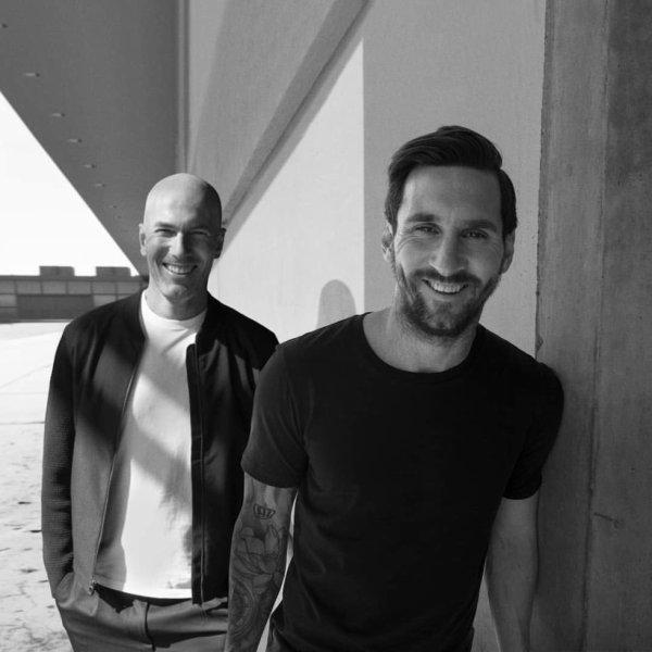 Lionel Messi & Zinedine Zidane