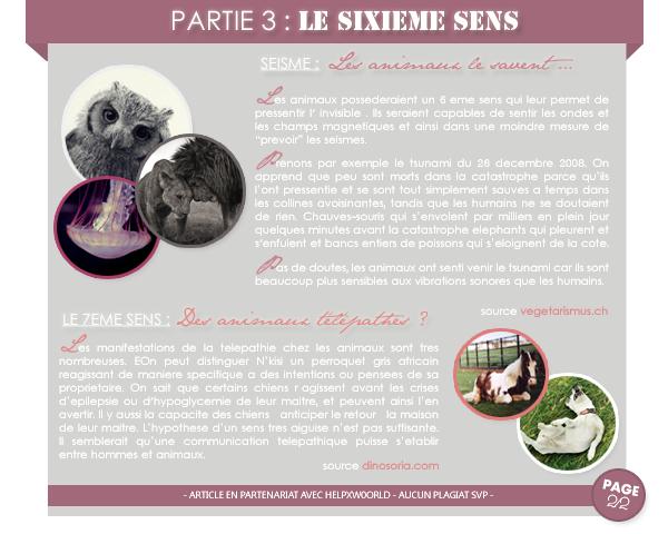 _______» CHAPITRE 02 :LES SENTIMENTS ANIMALIERS_______ » Posté le 10 Mars 2012 » Faune-world.skyblog.com