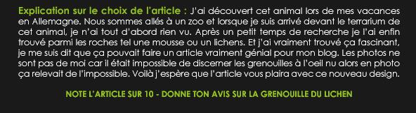 _______» ARTICLE N°115 :LA GRENOUILLE LICHEN DU VIETNAM_______ » Posté le 28 Juillet 2012 » Faune-world.skyblog.com