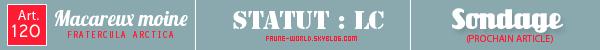 _______» ARTICLE N°120 :LE MACAREUX MOINE_______ » Posté le 12 Janvier 2013 » Faune-world.skyblog.com