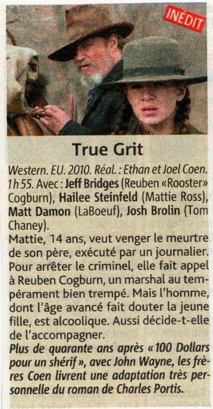 WESTERN : TRUE GRIT.