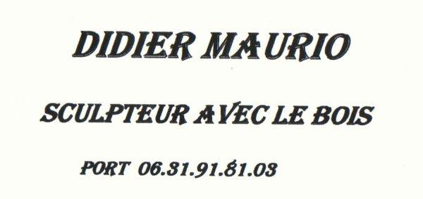 DIDIER MAURIO : SCULPTEUR SUR BOIS (1).