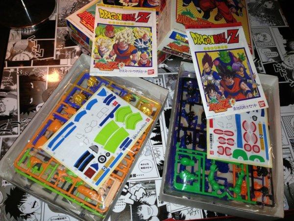 Vintage Bandai battle Z collection & yutaka chibi gt