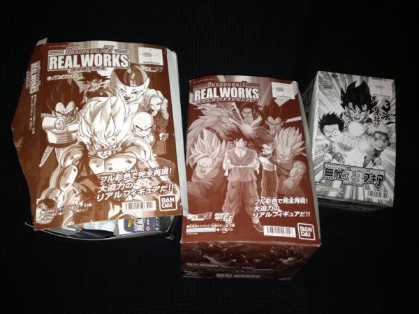 Real works box & dbz/Naruto/one piece