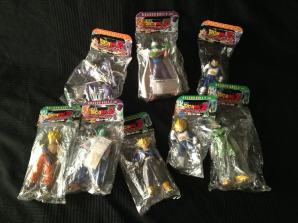 Dbz soft vinyl figures