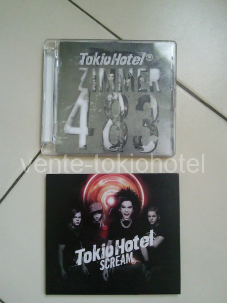 Albums; Schrei - Schrei so laut du kannst - Spring nicht (CD DVD collector) - Zimmer 483 (live in europe) - Zimmer 483 - Scream