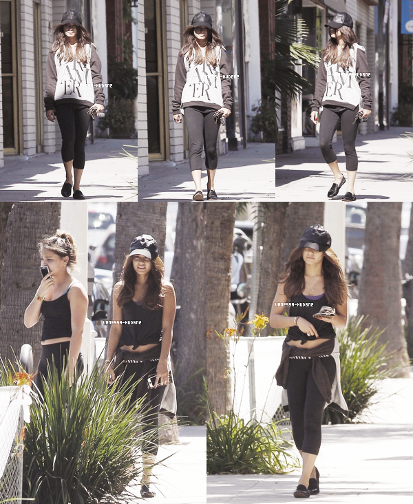 OUT & ABOUT / Le 08 juillet 2013, Vanessa a été vue, encore et encore, à Studio City. Elle était une nouvelle fois avec sa s½ur Stella. Que penses-tu de sa tenue ?