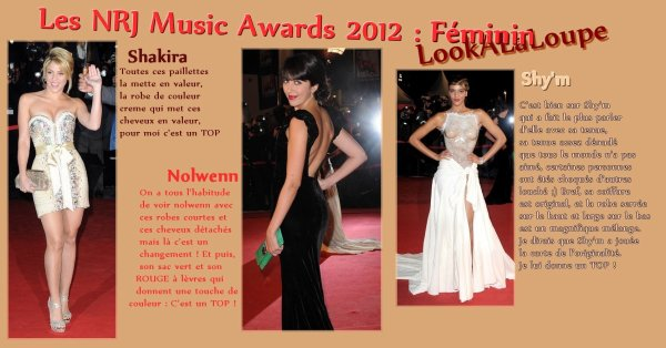 Les NRJ MUSIC AWARDS 2012 : Mes commentaires Look