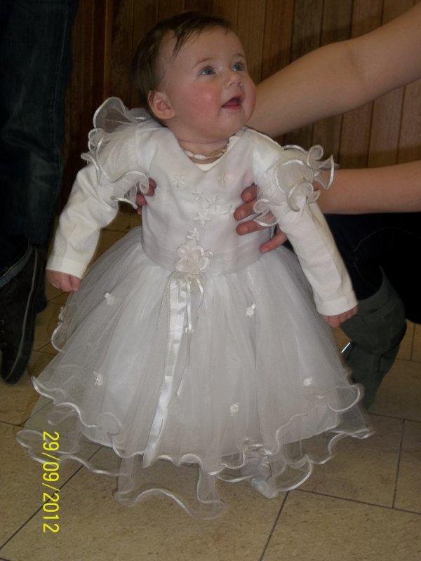M princesse dans sa robe de baptême