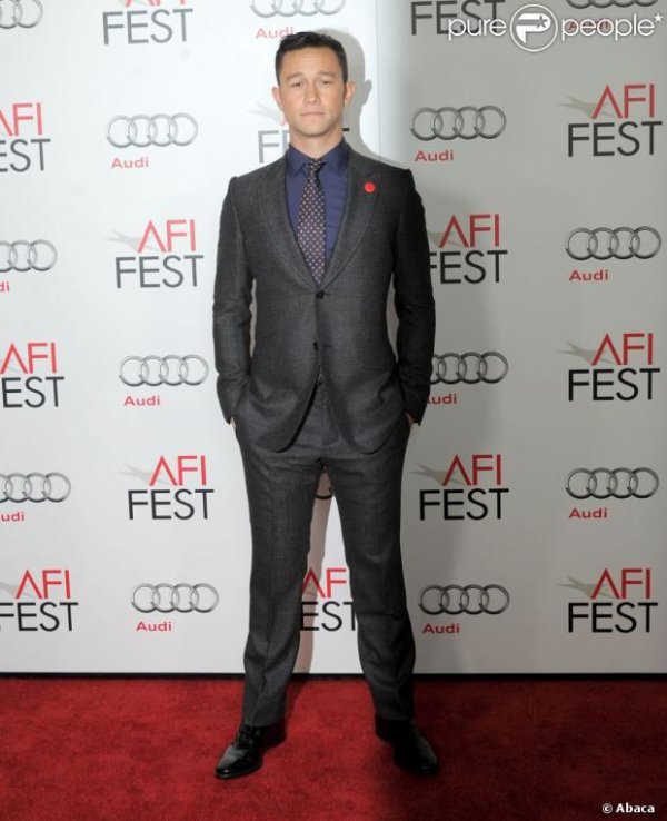 Joseph Gordon-Levitt lors de la projection du film Lincoln, dans le cadre du festival de l'AFI à Los Angeles le 8 novembre 2012
