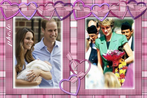 DIANA, WILLIAM AND KATE