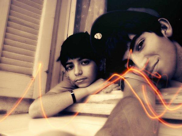 moi et m.frére <3