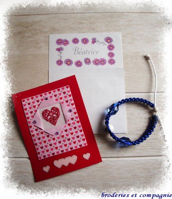 envoi pour l' échange thème St Valentin