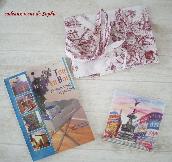 cadeaux reçus de Sophie