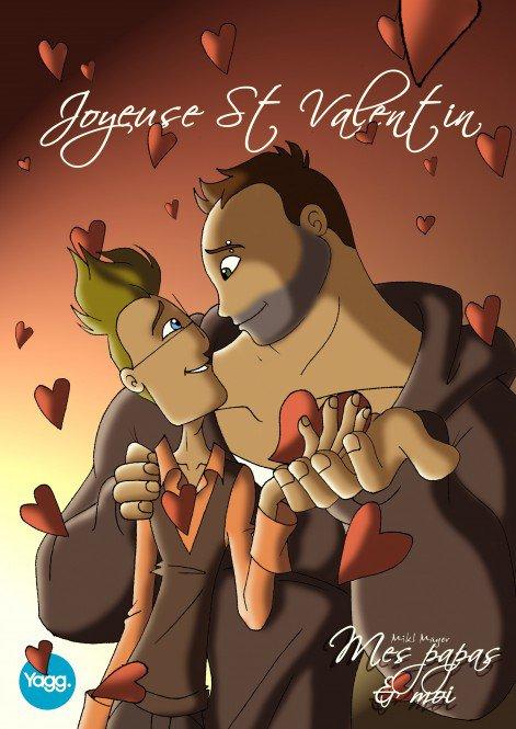 Florian et Tristan de «Mes papas et moi» vous souhaitent une joyeuse Saint-Valentin
