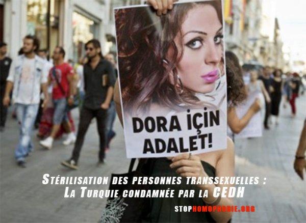 Stérilisation des personnes transsexuelles : La Turquie condamnée par la CEDH