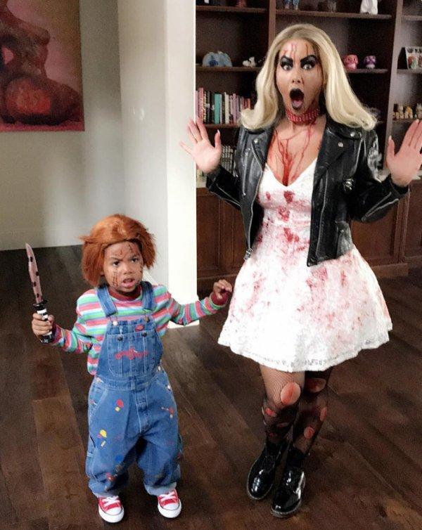 Halloween : AMBER ROSE & son fils