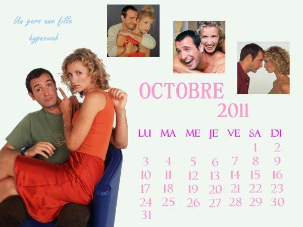 calendrier OCTOBRE 2011
