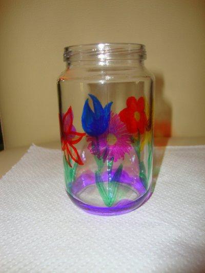 Dessins sur pot en verre blog de sandieleane - Pot en verre bebe ...