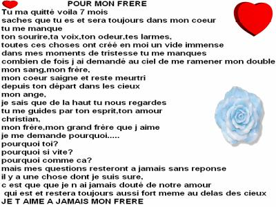 Poeme Hommage A Notre Frere Adores