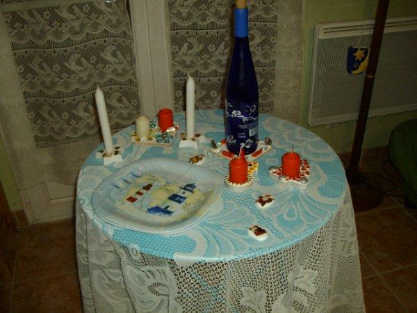 Mes créations de déco pour la table de noël....