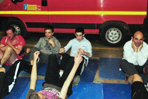 Sport! les pompiers en plein effort