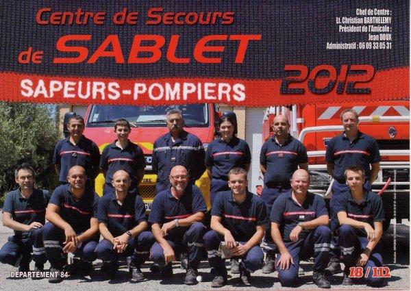 Le calendrier des Pompiers de Sablet  2012