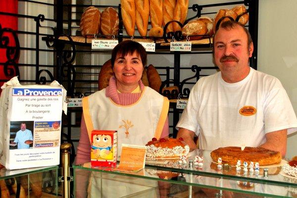Deux galettes en cadeaux à la Boulangerie Pradier