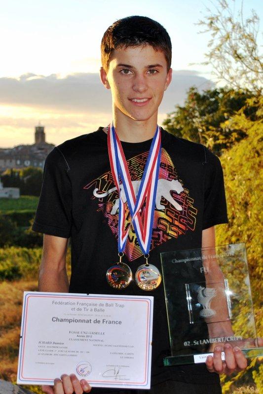 Damien Ichard double champion de France à 16 ans