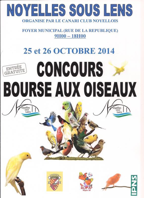 concours 2014 Noyelles sous lens dernier délai  inscription le 12/10/2014