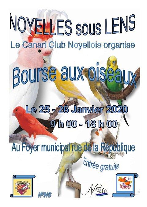 bourse aux oiseaux le 25 et 26 janvier 2020
