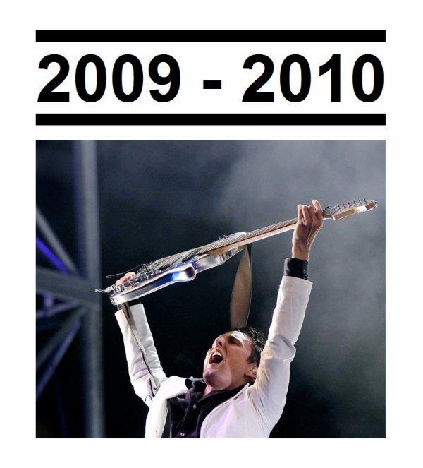 Période de 2009 à 2010 terminé !