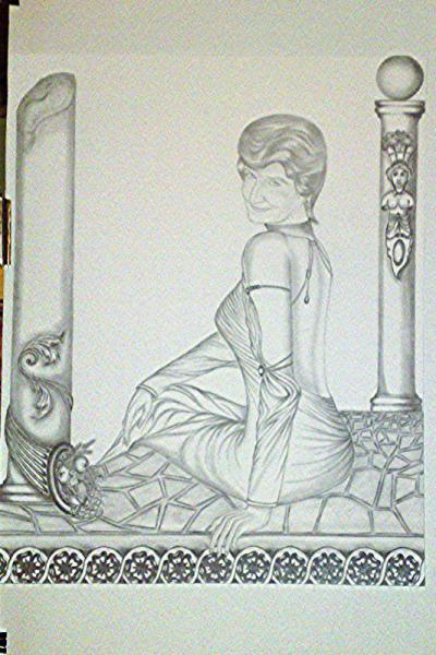 le dessin de ma belle maman fini