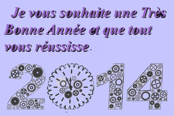 Très bonne Année 2014.