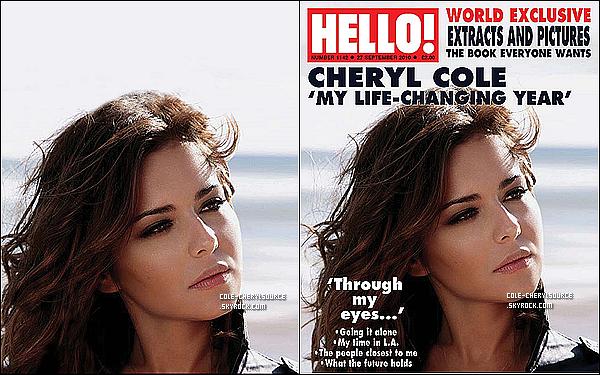 """. 18/09/10__Cheryl au téléphone dans sa voiture toute souriante allant dans un endroit inconnu avec sa maman Jeanne. 20/09/10__Hello! Magazine nous donne un premier aperçu, une image du livre de Cheryl Cole """" Through My Eyes """" . ."""