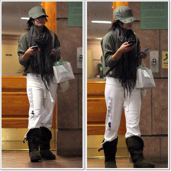 Friday, October 7th ; Vanessa faisant du Shopping dans Beverly Hills. J'aime les Boots :)