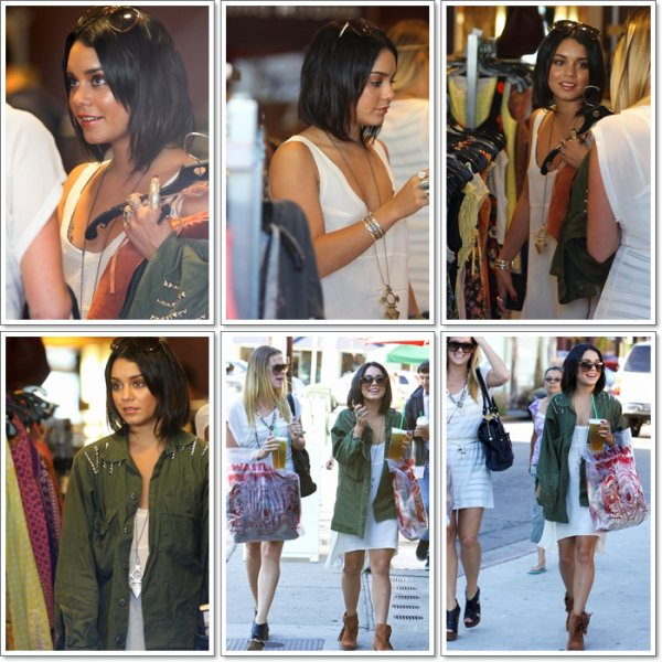 Vanessa allant faire du Shopping avec son amie Laura New à Urban Outfitters et Wasteland à Studio City.