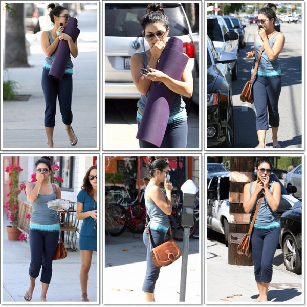 Thurday, October 13th ; Vanessa s'apprêtant à se rendre à l'aéroport à Studio City.