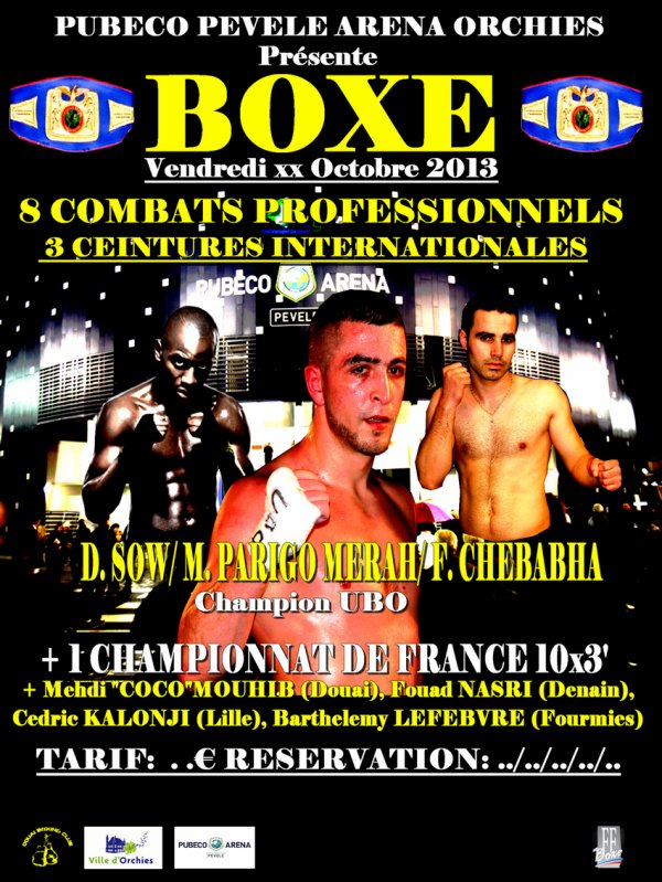 affiche previsionnelle orchies 4 octobre 6000 places